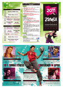 2011 ZUMBA Conference in JAPAN リーフレット
