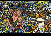 元ブルーハーツのドラマー 梶原さんのイラスト WEB用イラスト パンクロック 浮世絵 和彫り