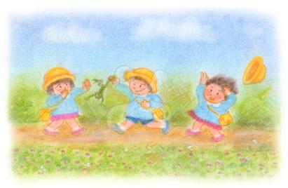 昭和の子供 通園風景