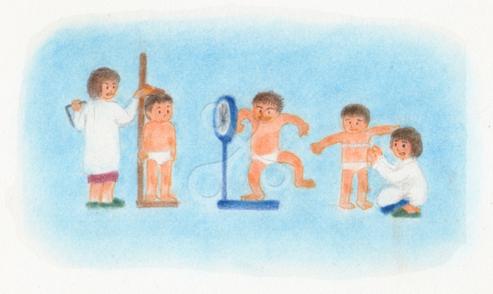 昭和の子供 身体測定