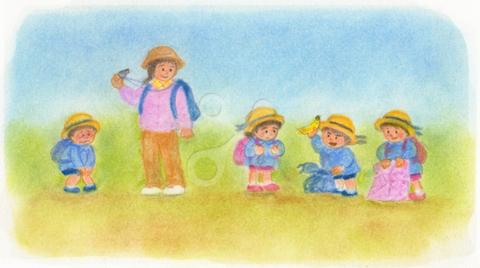 昭和の子供 春の遠足