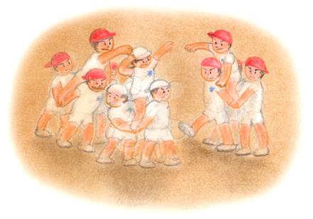 昭和の子供 騎馬戦