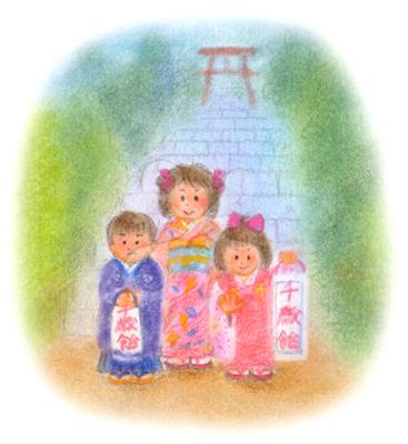 昭和の子供 七五三お宮参り