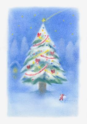 クリスマスの大きな木
