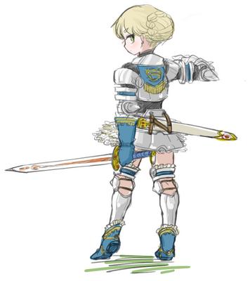 剣士さんラフ