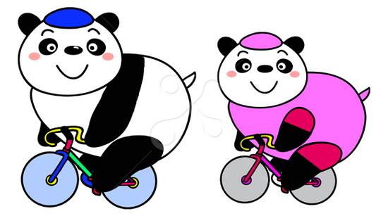 サイクリングパンダ