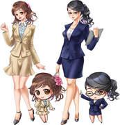 オリジナル 【オフィス 女性 スーツ】