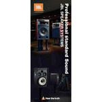 アメリカの大手音響機器メーカーJBLの販促用タペストリーをデザインしています。