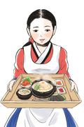 食品(韓国料理)販促イラスト 2012年作