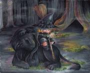魔女の相棒は黒い猫と相場が決まっているのです。