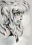 """Promotional illustration for the manga adaptation of my novella """"Black Wraith"""""""