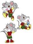 「ダンスをするネズミで」ということでデザインしました