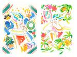 女性向けパンフの表紙用イラストです。ヤワラカイイメージでとの依頼で制作。