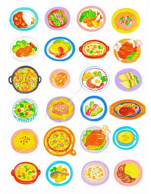 洋食メニュー ポップのイラストかわいいのイラストほのぼのの