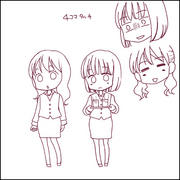 4コマ漫画系イラストラフ