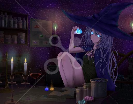 魔女の研究室 20代女のイラスト日用品のイラスト Skillots