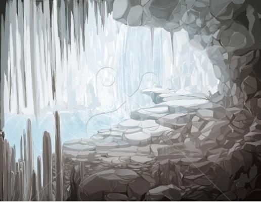 鍾乳洞の洞窟 自然の風景のイラスト Skillots
