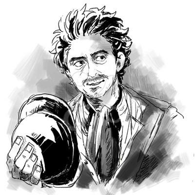 シャーロックホームズ リアルのイラスト中年男のイラスト Skillots