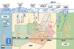 観光案内サイトに使用されたイラスト地図です。