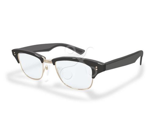 リアルイラスト 眼鏡 日用品のイラスト Skillots