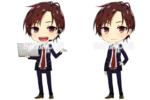 SDキャラクターを描かせていただきました。 アバターとしてWebサイトに使用されています。 差分として2パターン。2.5頭身。 SDキャラ描くの本当に好きなのでありがたかったです…