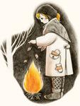 落ち葉焚いて       葉守りの神を           見し夜かな                      芥川龍之介