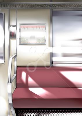 電車内 インテリアのイラスト Skillots