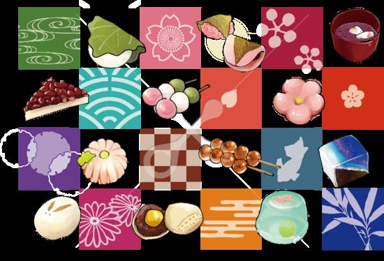 和菓子の歳時記 お菓子スイーツのイラスト Skillots