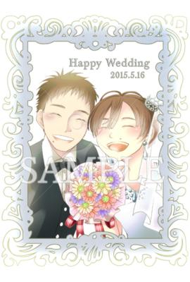 結婚式のウェルカムポストカード 20代 女のイラスト アニメの
