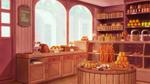 背景イラストのサンプルです。 ヨーロッパのパン屋さんをイメージしました。