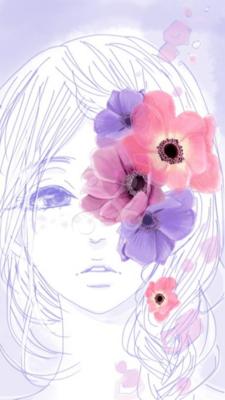 アネモネ 10代女のイラスト Skillots
