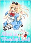 不思議の国のアリスをイメージしたイラストです。
