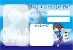 アイドルの生誕祭用メッセージカード はがきサイズ