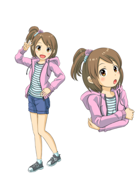 キャラクターデザインサンプル小学生の女の子 萌えのイラスト10代