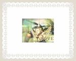 天使の神に由来する創造の力と祝福のイメージのグリーティングカードです。 素敵な未来がありますように。