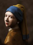 真珠の耳飾りの少女3D模写