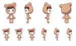 今後リリース予定の熊本弁の目覚ましアプリ、くまらぁ~むのキャラクターデザイン、アニメ用カットを制作しました。  制作時間は各5時間~8時間ほど