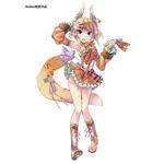 宮木南美さん(https://twitter.com/nami_yk)をイメージしたアイドルキャラクターのデザインという案件で描かせて頂きました。