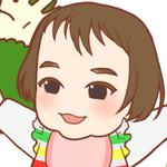 ご依頼いただいた、赤ちゃんの似顔絵イラストです