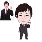 illustratorによる似顔絵。 ベクター画像なのでillustratorで拡大してもぼやけません。