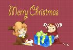 クリスマスのメッセージカードとして シンプルなのが作りたかったので…