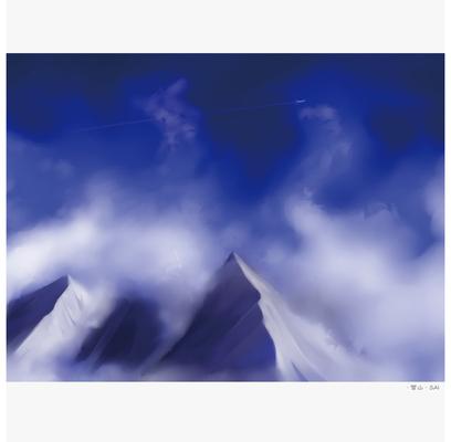 雪山 天気空模様のイラスト Skillots