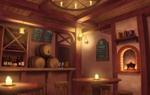 RPGに出てくるような酒場をイメージしました。