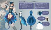 女性キャラクターデザイン画