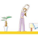 女性向け健康記事を想定して描いたイラスト。制作期間:1日