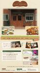 レストランと宿泊施設を併設する施設のサイトデザインです。