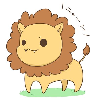 可愛いライオン ほ乳類のイラスト Skillots