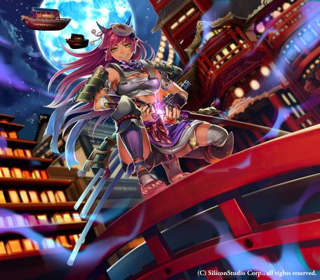 鬼の剣士 20代女のイラスト和風のイラストゲームのイラストゲーム