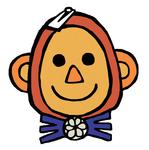 ジャングルをモチーフにした飲食店のキャラクターの顔です。
