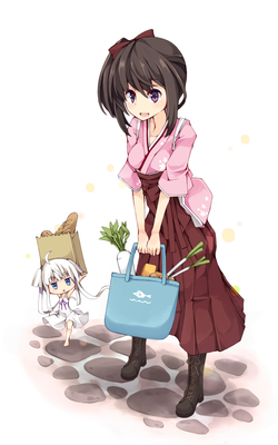 朱袴 10代女のイラスト Skillots